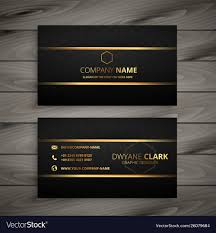 Visiting Card Design Black And Gold Black And Gold Premium Business Card Design