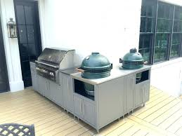 custom big green egg table cabinets for cypress challenger designs built in outdoor kitchen