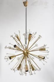 large gold plated sputnik chandelier by emil stejnar for rupert nikoll