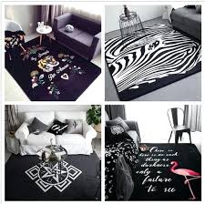 large black and white rug ins fashion large super soft flannel black and white rug thick large black and white rug
