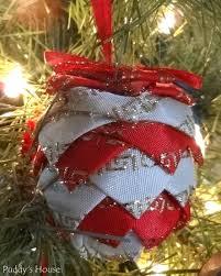 DIY Christmas Ornaments - Fabric pinecone