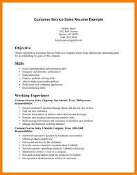 Customer Service Sales Resume Objective For Resume Job Objectives