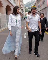 GP Mónaco F1 2018: Fernando alonso y su novia linda morselli durante...