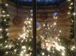 decorating a holiday basement window well landscape