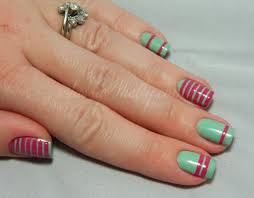 Spring Stripes Nail Art ~ with étoile polish | Beauty nails and ...