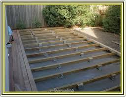 deck tiles over concrete slab outdoor