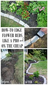 Landscape Edging Best Cheap Landscaping Ideas For Front Yard On Pinterest  Hardscaping Mulch