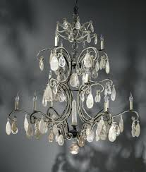 wrought iron crystal chandelier gallery versailleini 3 in 1 5 light white chandel