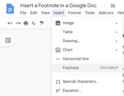 Gooogle Doc How To Add Footnotes In Google Docs Techrepublic