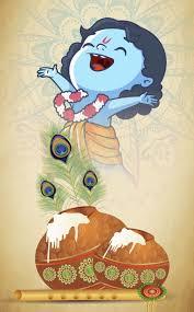 little krishna cartoon hd wallpaper