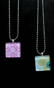 ideas for glass tile pendants