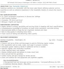 Gallery Of Bartender Resume Example Template Resume Builder