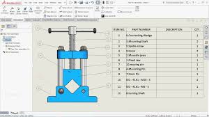 What Is A Bill Of Materials Solidworks Tutorial Insert Bill Of Materials Bom Into A Drawing In Solidworks