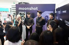 the moonshot boys at the brand s debut launch in sephora singapore