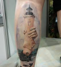 фото татуировки в стиле сюрреализм на голени парня фото рисунки