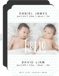 twin birth announcements photo cards photo birth announcements