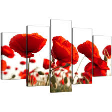 display gallery item 4 set of 5 living room red canvas picture display gallery item 5 on poppy wall art uk with extra large poppies canvas prints uk 5 part in red