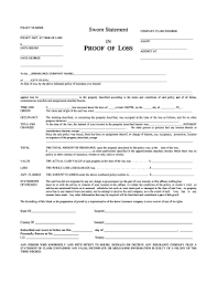 att affidavit form sworn proof of loss statement fill online printable fillable