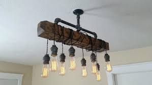 full size of diy rustic beam chandelier reclaimed wood suspended lamp plantation shutters home improvement surprising