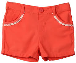Beebay Size Chart Beebay Baby Girl Cotton Solid Shorts Red