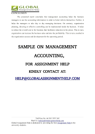 management accounting assignment sample global assignment help 21