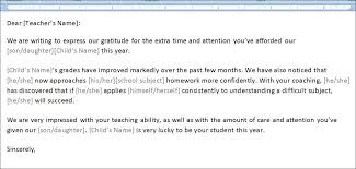 The Thank You Letter To Teacher May Also Be Used As A Token