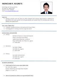 ojt resume. Resume For Ojt Students Format