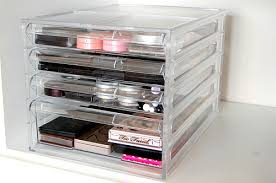 The unit contains four drawers. The first three are the same size but the  last compartment is considerably deeper. You can't pull an individual drawer  out ...