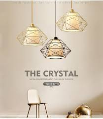 vintage cage pendant light iron diamond wrought ceiling lamp for restaurant bedroom living room loft aisle night light pull down pendant light unusual