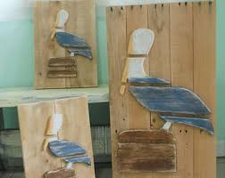 pelican wood wall art