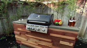 build your own bbq island outdoor kitchen fresh redwood barbecue grill island