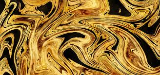 abstract gold ink decorative