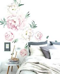 wall decals flowers flower wall decals and peony flowers wall sticker vintage pink contemporary wall decals