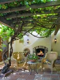 Small Patio With Grape Arbor Ideas