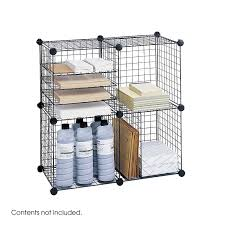 Amazon.com: Safco Products 5279BL Wire Storage Cube Set, Black: Office  Products
