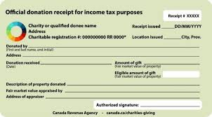 Sample Official Donation Receipts Canada Ca Invoice Template Word