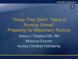 Grace J Tazelaar Ms Rn Missions Director Nurses Christian