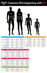 Charades Costume Size Chart Astronaut Orange Ch M