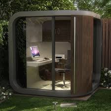 outdoor home office. curved garden room pod modern outside home office outdoor