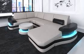 Modern leather couch Modern Style Design Sectional Sofa Tampa With Usb Port Beigewhite Modern Leather Sofadreams Modern Leather Sofa Tampa Shape