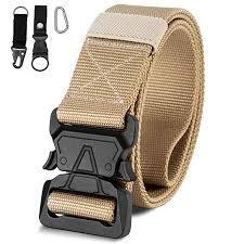 1.5 Inch <b>Quick</b> Release Tactical <b>Belt</b>, <b>Mens</b> Nylon <b>Canvas Military</b> ...