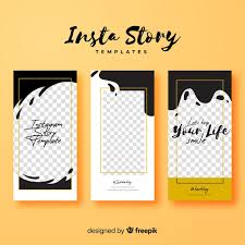 Instagram Stories Template With Empty Frame Vector Free