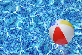 swimming pool beach ball background. Beach Ball In Swimming Pool Background