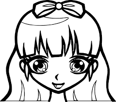 Small Picture Manga Cute Girl Face Coloring Page Wecoloringpage