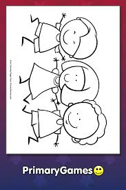 Here are the available worksheets about colours! Kids Holding Hands Coloring Page Free Printable Pdf From Primarygames