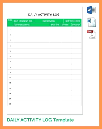 Daily Activities Template Daily Report Template Word Daily Report Format In Weekly