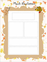 Classroom Newsletter Template for March