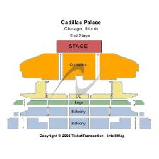 Cadillac Palace Theatre Chicago Illinois Seating Chart Cadillac Palace Theatre Events And Concerts In Chicago