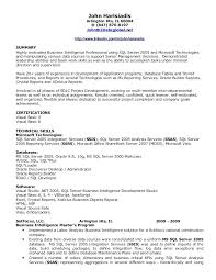 Business Object Resume Business Objects Resume Sample 1