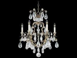schonbek versailles rock crystal six light 22 wide grand chandelier